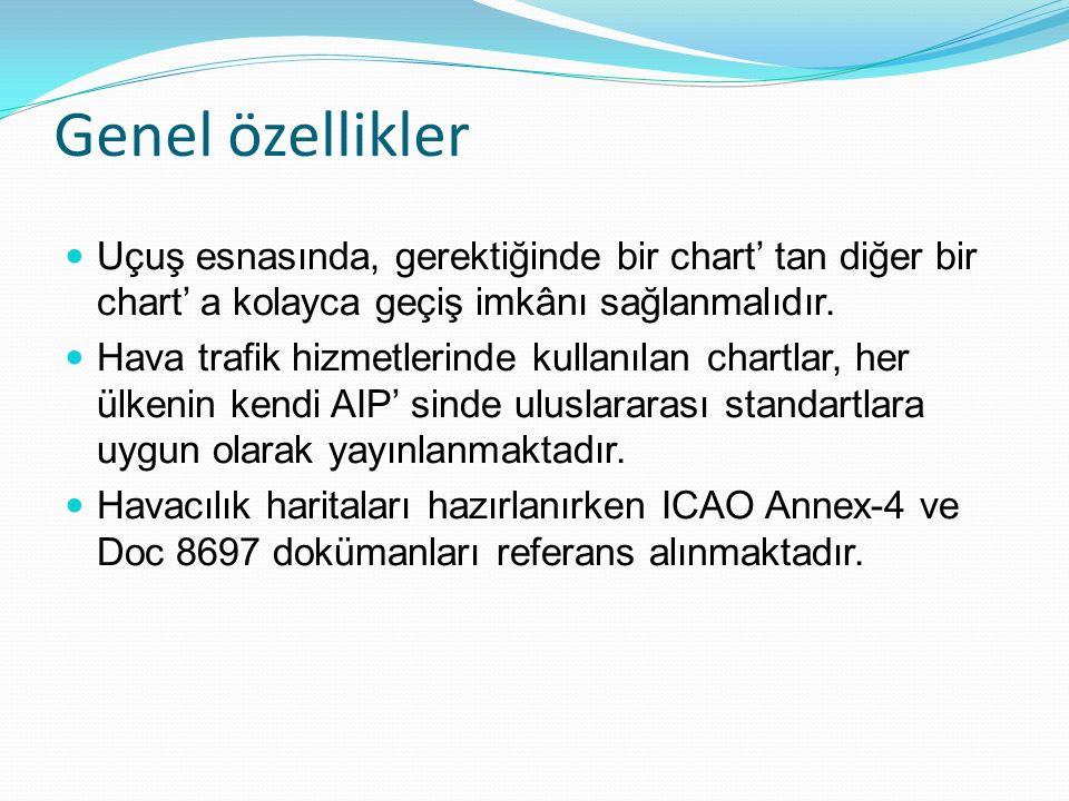 Genel özellikler Uçuş esnasında, gerektiğinde bir chart' tan diğer bir chart' a kolayca geçiş imkânı sağlanmalıdır.