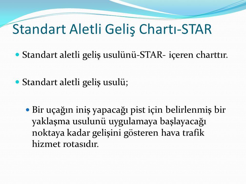Standart Aletli Geliş Chartı-STAR Standart aletli geliş usulünü-STAR- içeren charttır.