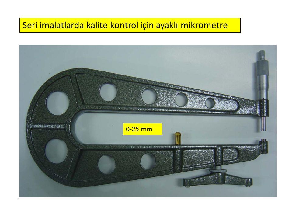 0-25 mm Seri imalatlarda kalite kontrol için ayaklı mikrometre