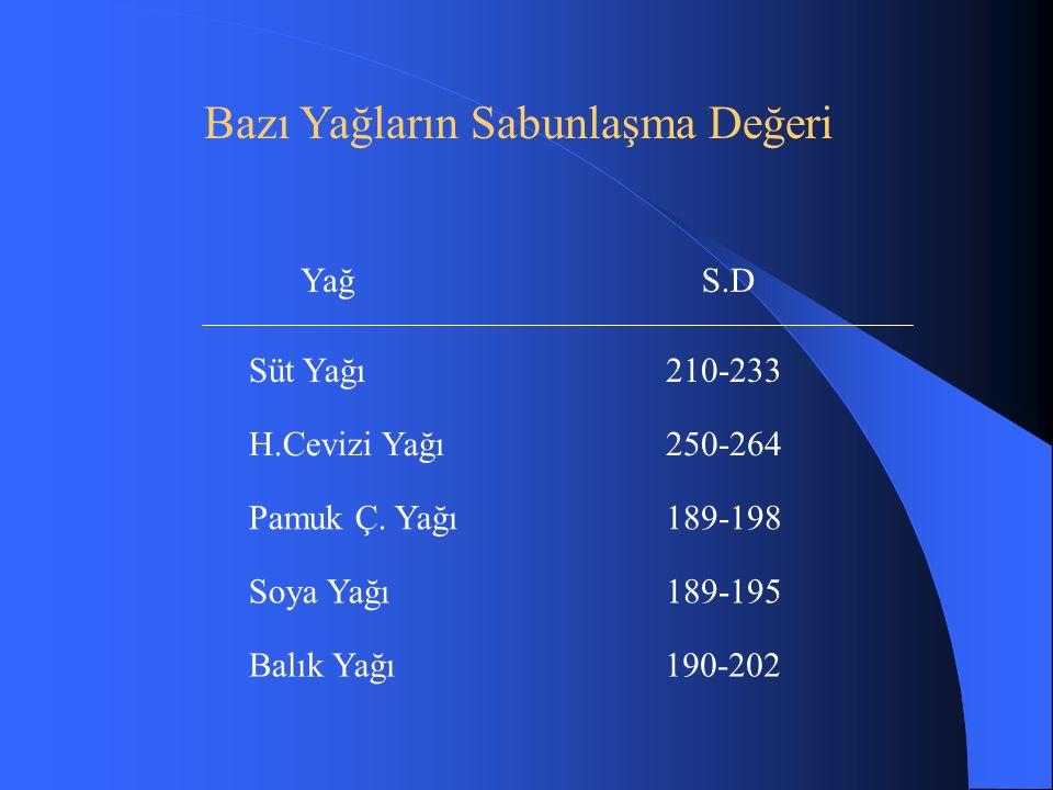 Süt Yağı210-233 H.Cevizi Yağı250-264 Pamuk Ç.
