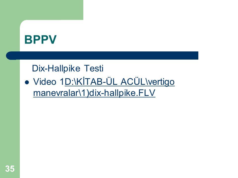 BPPV Dix-Hallpike Testi Video 1D:\KİTAB-ÜL ACÜL\vertigo manevralar\1)dix-hallpike.FLVD:\KİTAB-ÜL ACÜL\vertigo manevralar\1)dix-hallpike.FLV 35