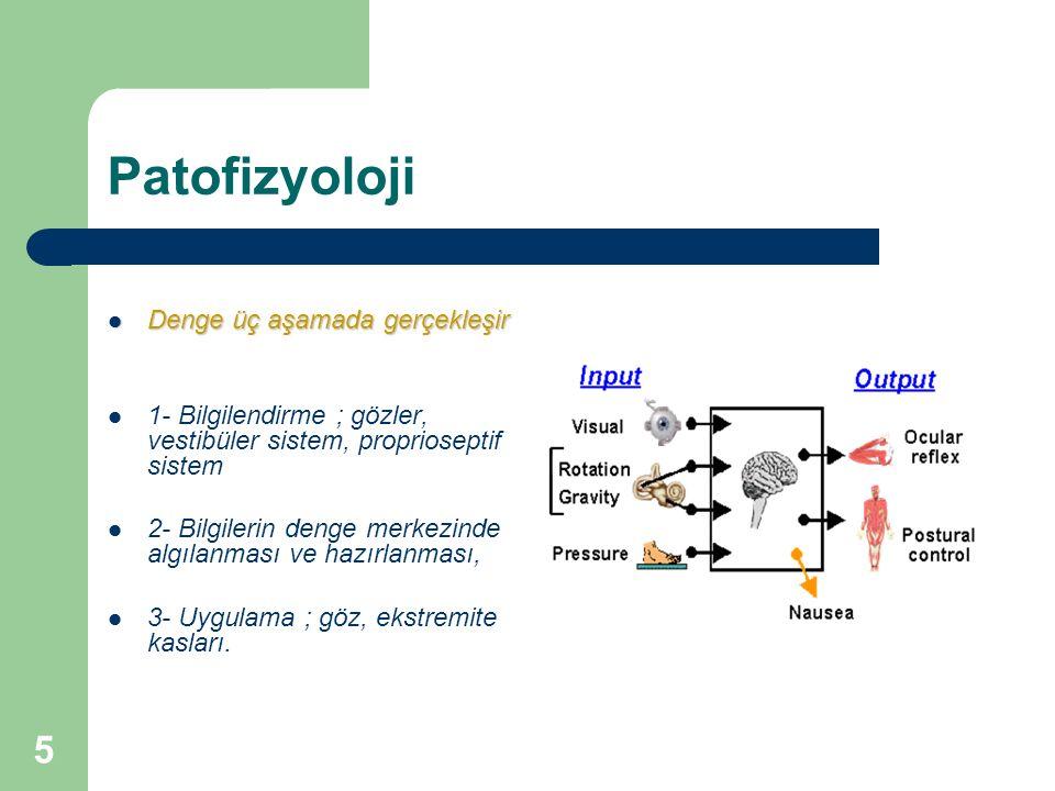 Patofizyoloji ağırlık merkezi dayanma düzlemi içinde tutulur: Bu aşamaların sonucunda vücudun ağırlık merkezi dururken ya da hareket halinde dayanma düzlemi içinde tutulur: DENGE.......