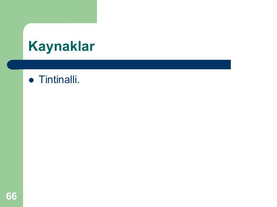 Kaynaklar Tintinalli. 66