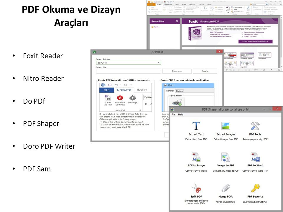 MathType Matlab ElectronicLAB EndNote Utest,TestMaker WinSurvey Mendeley – RefMe Corel Draw 3DMax, Cinema 4D Maya Cockos Reaper Apple LogicPro, GarageBand Eğitim ve Mesleki Destek Yazılımlar