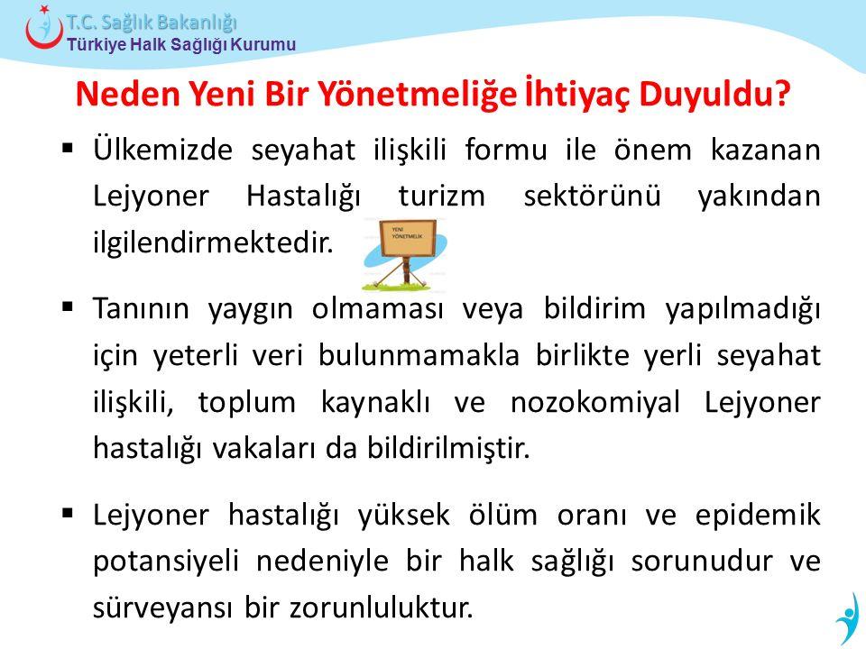 Türkiye Halk Sağlığı Kurumu T.C. Sağlık Bakanlığı Neden Yeni Bir Yönetmeliğe İhtiyaç Duyuldu?  Ülkemizde seyahat ilişkili formu ile önem kazanan Lejy