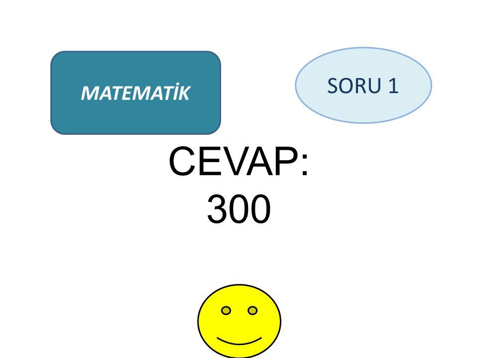 CEVAP: 300 MATEMATİK SORU 1