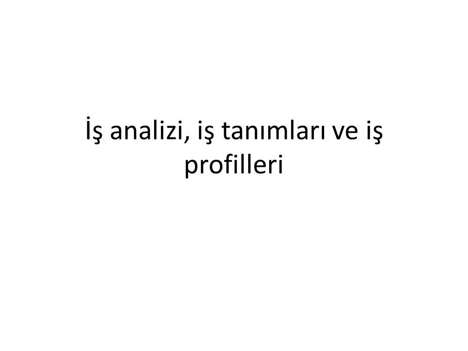 İş analizi için bazı yöntemler Türkiye İş Kurumu Soru Formu
