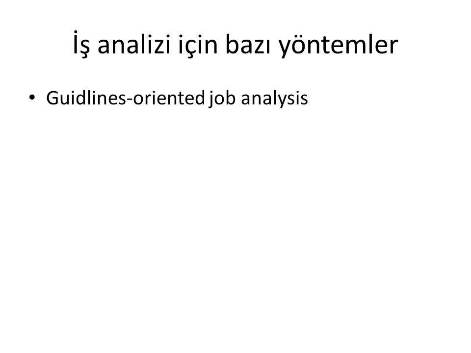 İş analizi için bazı yöntemler Guidlines-oriented job analysis