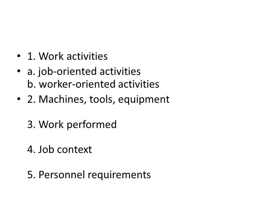 İş analizi için bazı yöntemler Functional job analysis (FJA) Sidney A.