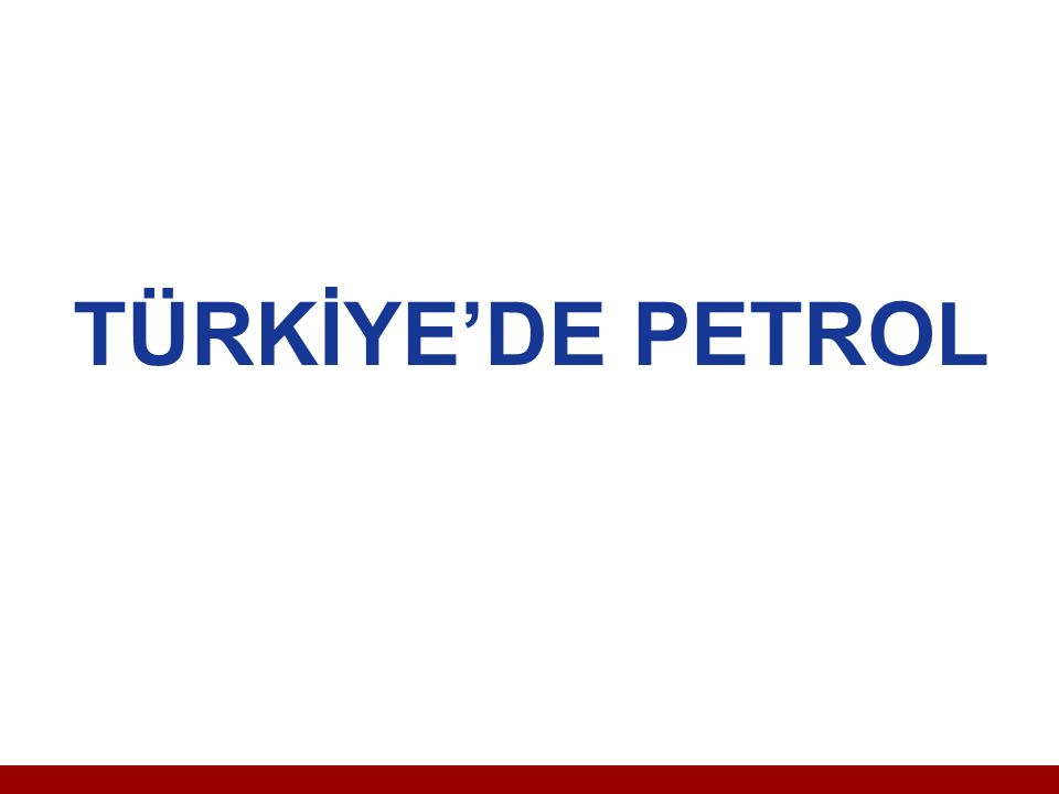 Türkiye de Petrol 20 Mayıs 1933 tarihinde 2189 sayılı yasa ile Petrol Arama ve İşletme İdaresi kuruluncaya kadar ciddi bir etkinlik olmamıştır.