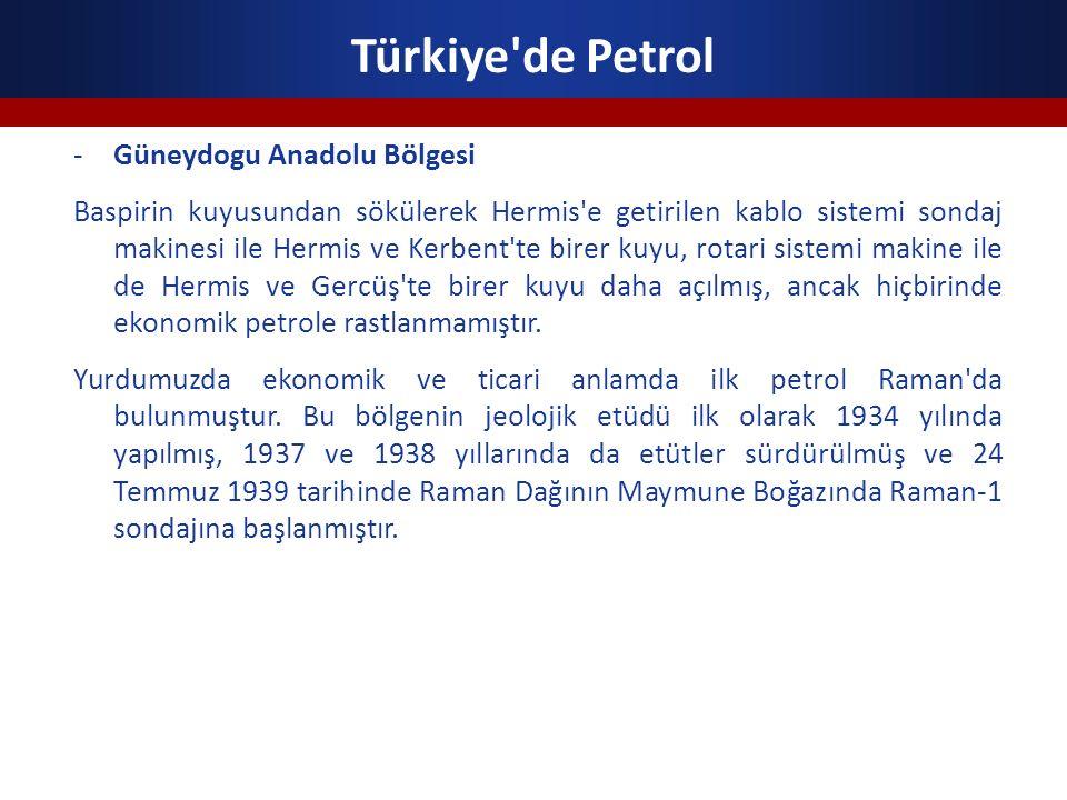 Türkiye'de Petrol -Güneydogu Anadolu Bölgesi Baspirin kuyusundan sökülerek Hermis'e getirilen kablo sistemi sondaj makinesi ile Hermis ve Kerbent'te b