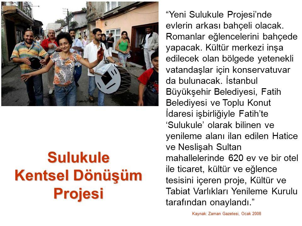 Yeni Sulukule Projesi'nde evlerin arkası bahçeli olacak.
