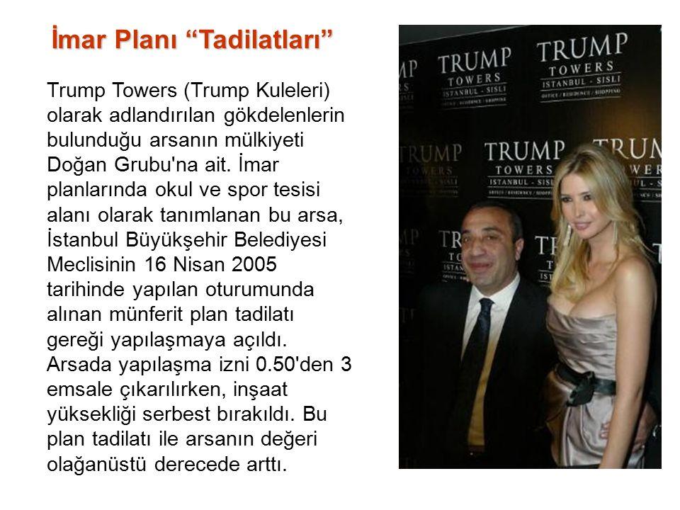 Trump Towers (Trump Kuleleri) olarak adlandırılan gökdelenlerin bulunduğu arsanın mülkiyeti Doğan Grubu na ait.