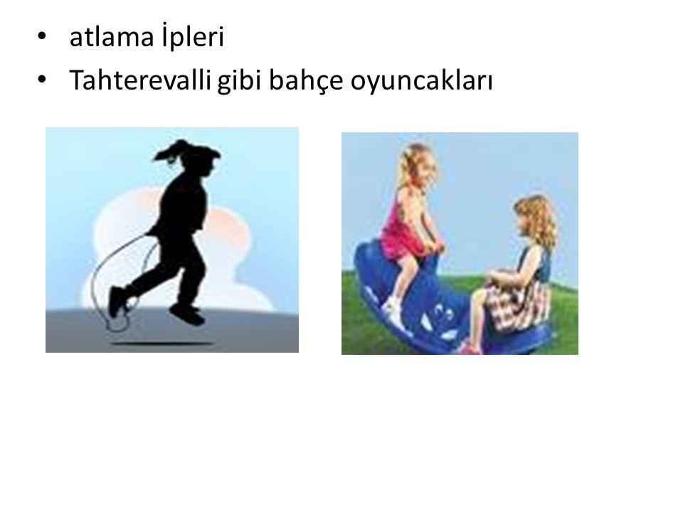 atlama İpleri Tahterevalli gibi bahçe oyuncakları YERKÖY REHBERLİK VE ARAŞTIRMA MERKEZİ