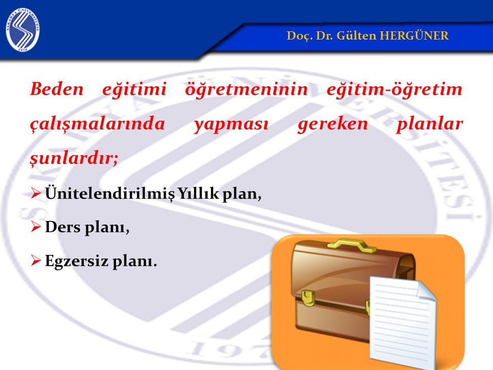 Beden eğitimi öğretmeninin eğitim-öğretim çalışmalarında yapması gereken planlar şunlardır;  Ünitelendirilmiş Yıllık plan,  Ders planı,  Egzersiz