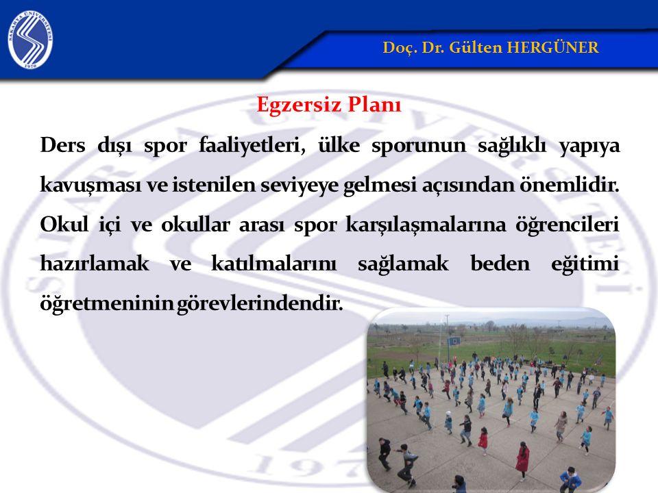 Egzersiz Planı Ders dışı spor faaliyetleri, ülke sporunun sağlıklı yapıya kavuşması ve istenilen seviyeye gelmesi açısından önemlidir. Okul içi ve oku