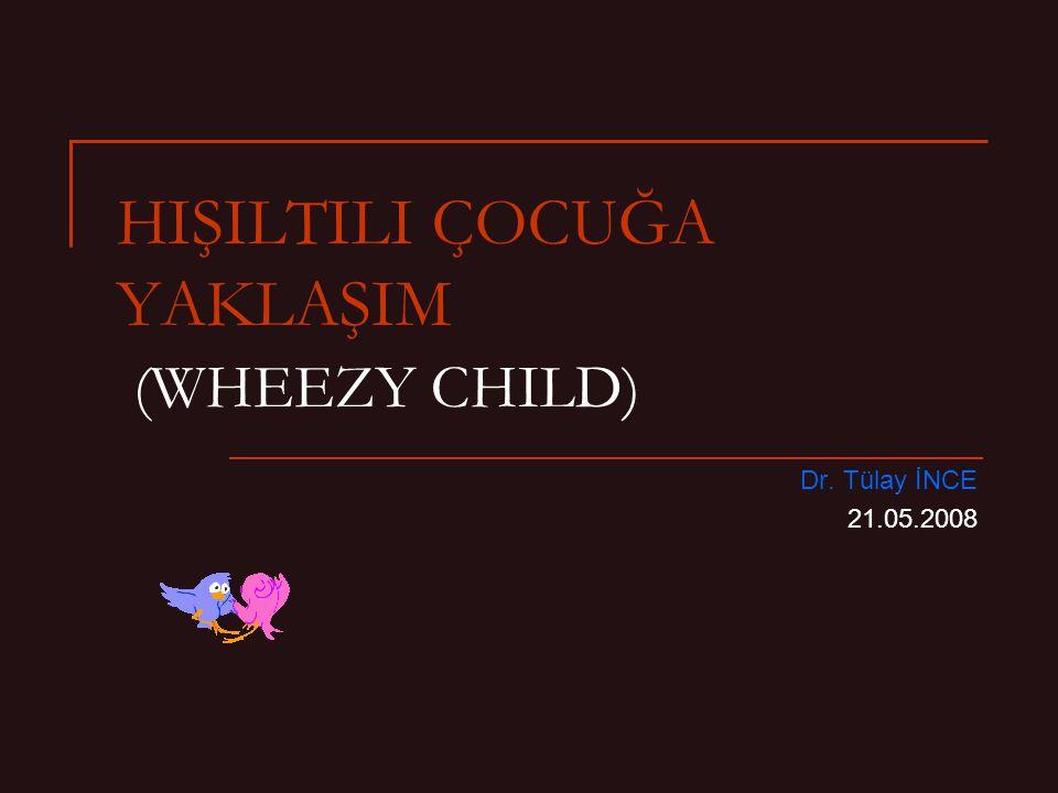 HIŞILTILI ÇOCUĞA YAKLAŞIM (WHEEZY CHILD) Dr. Tülay İNCE 21.05.2008