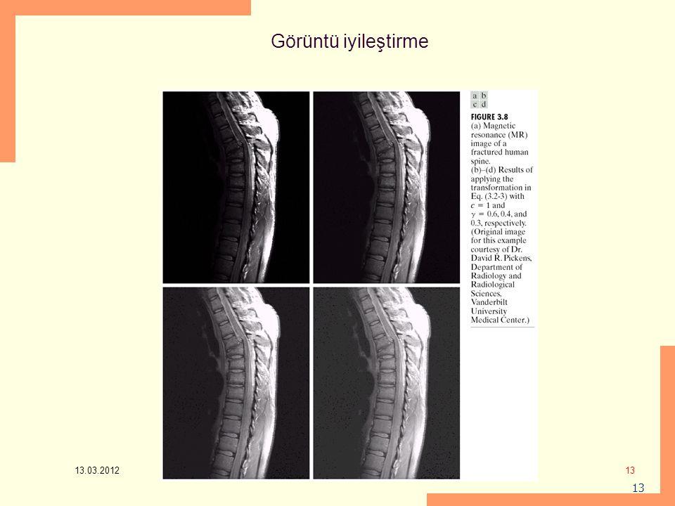 13.03.2012 13 Görüntü iyileştirme