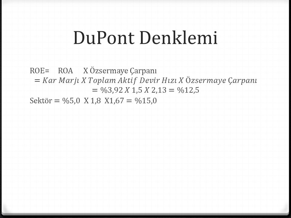 DuPont Denklemi