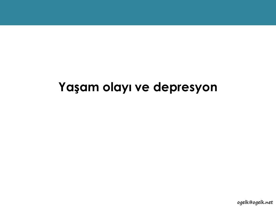 Yaşam olayı ve depresyon