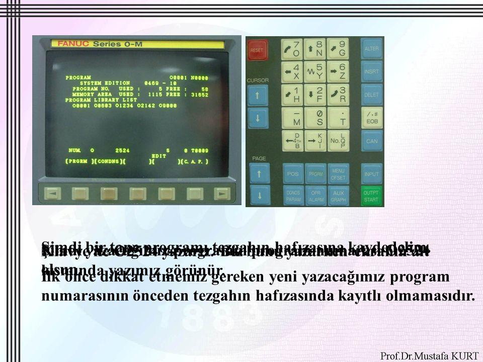 Yazdığımız program isminde programı açmak ve programın gerisini yazmak için klavyeden INSRT tuşuna basarız.