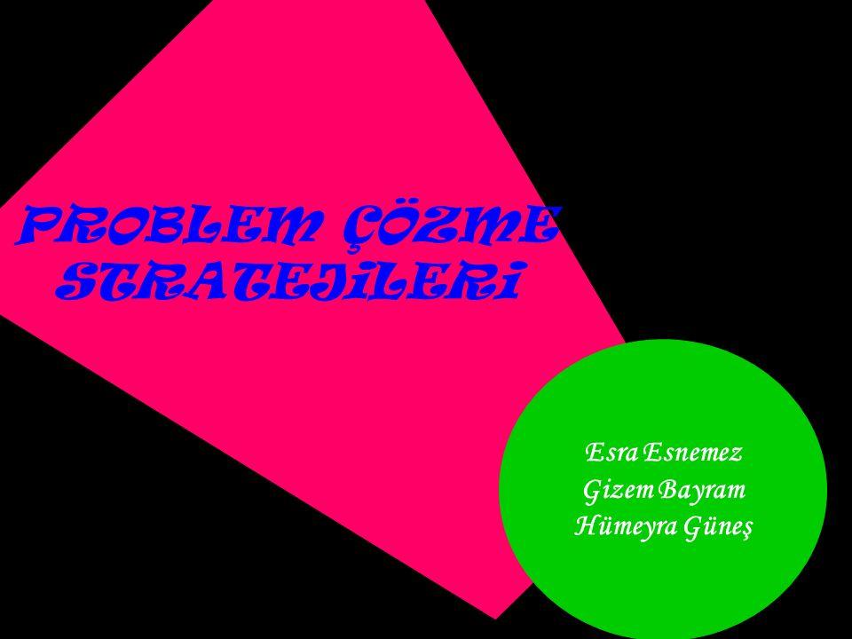 Esra Esnemez Gizem Bayram Hümeyra Güneş PROBLEM ÇÖZME STRATEJiLERi
