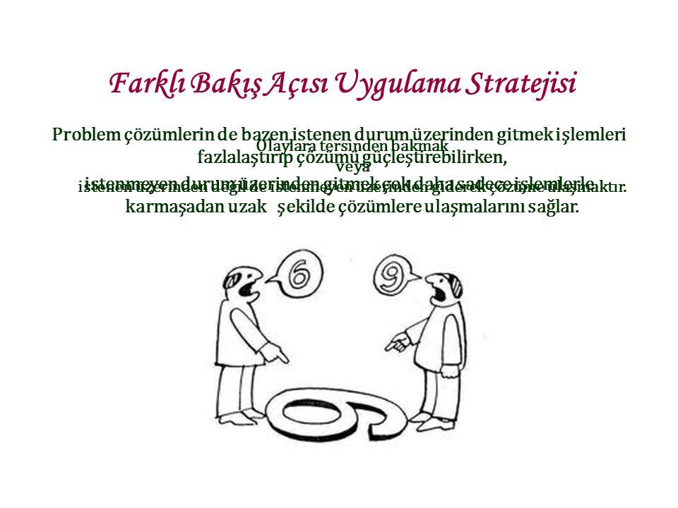 Plan Hazırlama Geriye doğru işlem yapma stratejisi kullanılsın.
