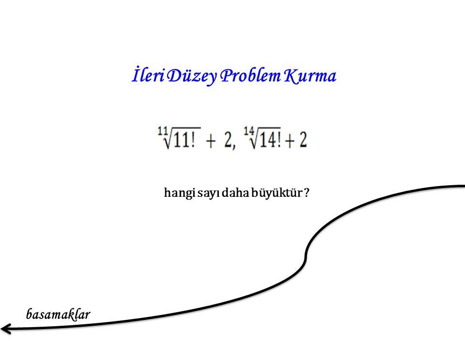 İleri Düzey Problem Kurma hangi sayı daha büyüktür basamaklar