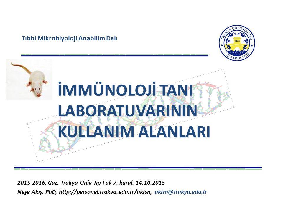 Tıbbi Mikrobiyoloji Anabilim Dalı 2015-2016, Güz, Trakya Üniv Tıp Fak 7.