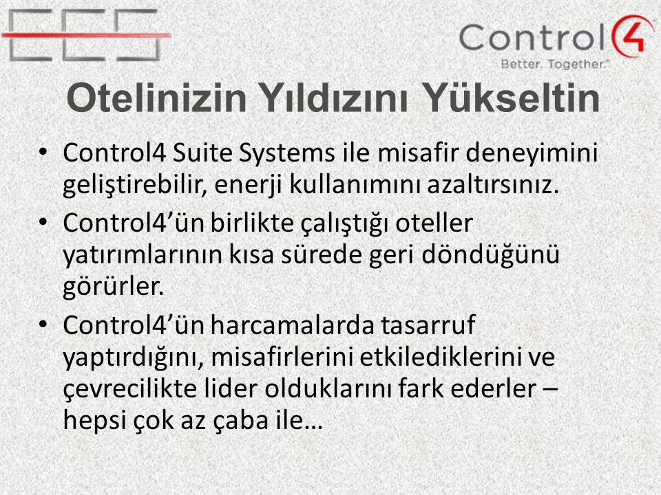 Otelinizin Yıldızını Yükseltin Control4 Suite Systems ile misafir deneyimini geliştirebilir, enerji kullanımını azaltırsınız.