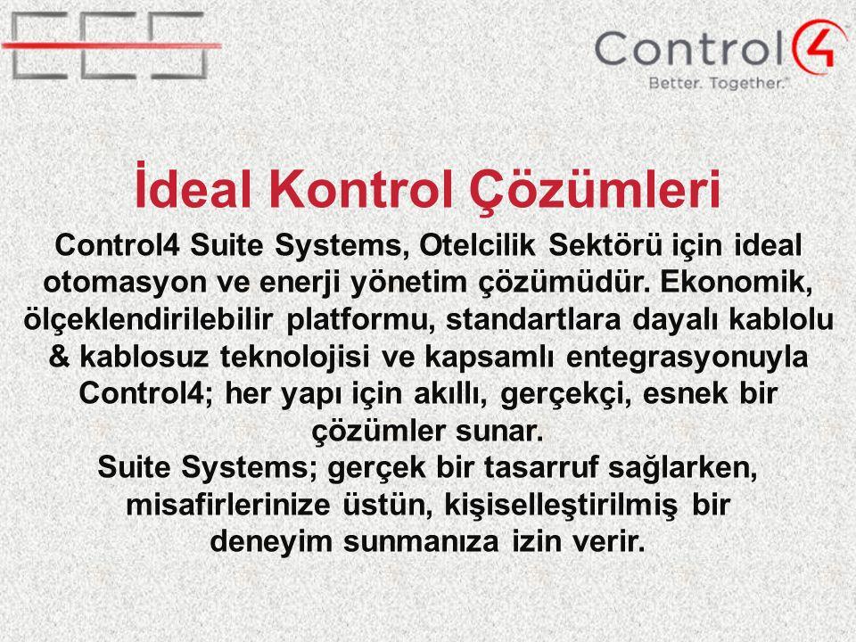 Control4 Suite Systems, Otelcilik Sektörü için ideal otomasyon ve enerji yönetim çözümüdür.