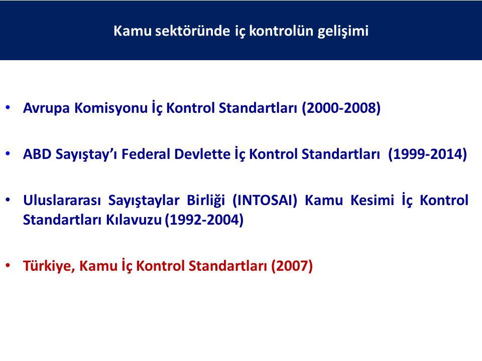 Avrupa Komisyonu İç Kontrol Standartları (2000-2008) ABD Sayıştay'ı Federal Devlette İç Kontrol Standartları (1999-2014) Uluslararası Sayıştaylar Birl
