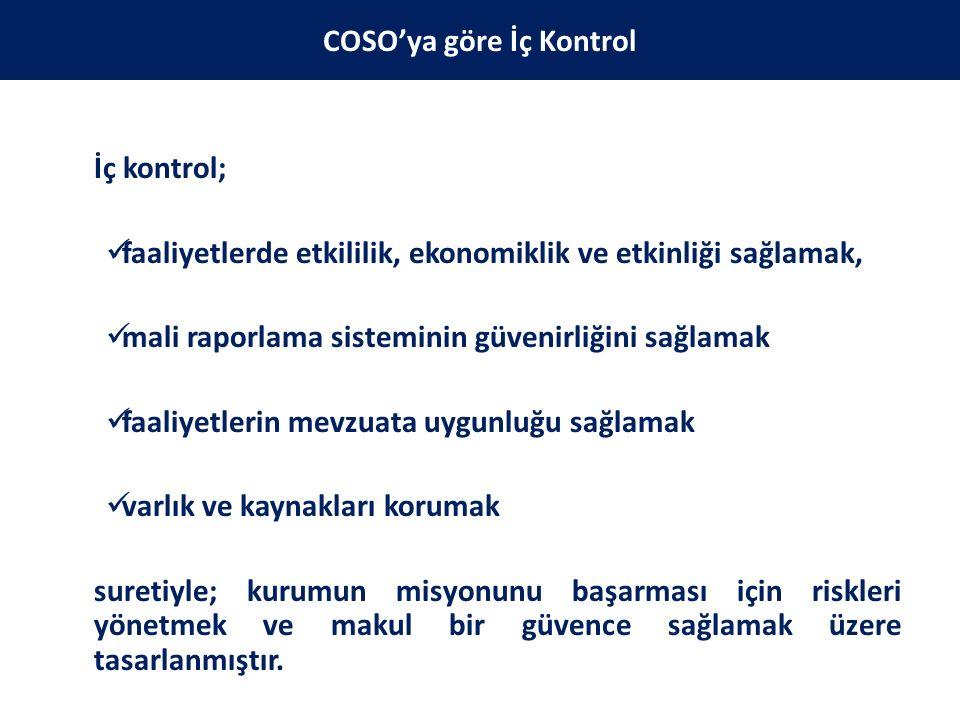 Kamu İç Kontrol Standartları COSO modeli, INTOSAI Kamu Sektörü İç Kontrol Standartları Rehberi ve Avrupa Birliği İç Kontrol Standartları çerçevesinde belirlenmiştir.