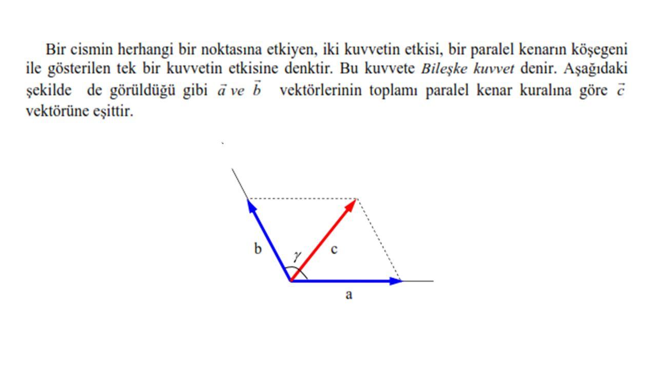 Birim vektörler cinsinden verilmiş iki vektör. olsun bu iki vektörün skaler çarpımı;