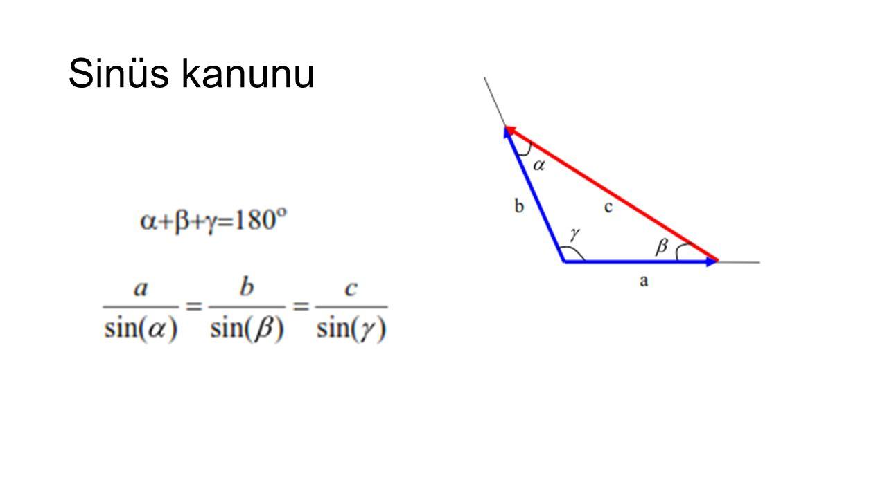 A-B doğrusu üzerindeki birim vektör şu şekilde tanımlanabilir.