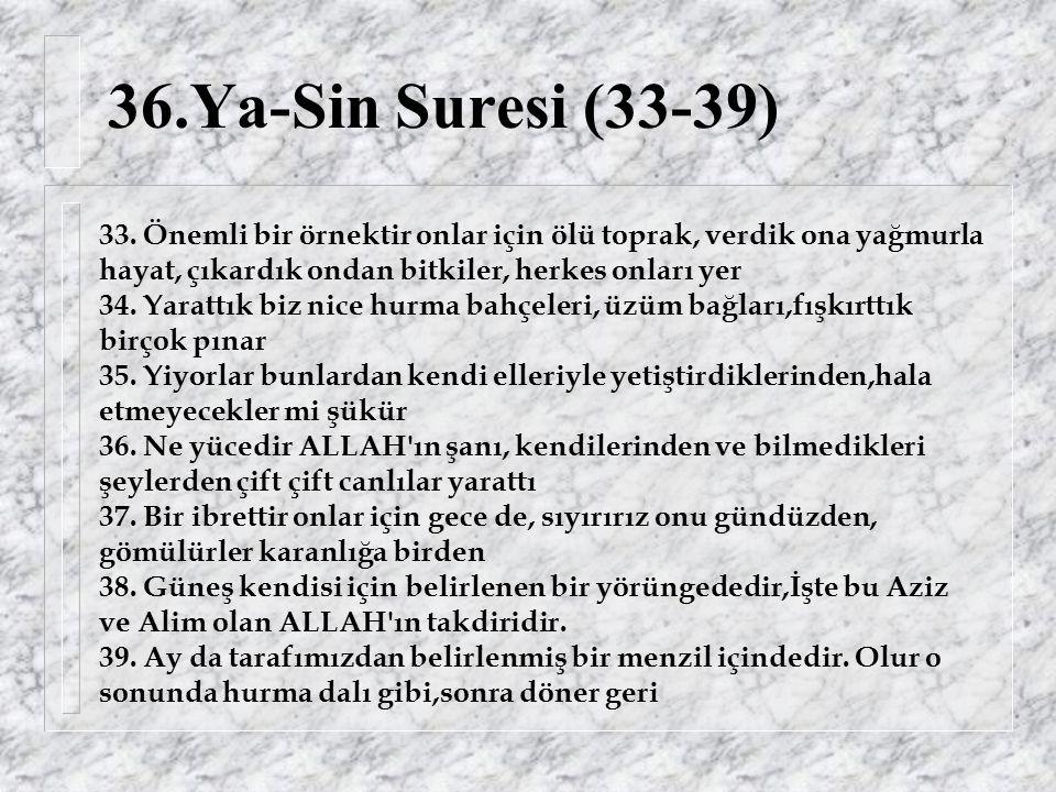 36.Ya-Sin Suresi (33-39) 33.