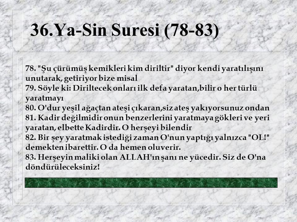 36.Ya-Sin Suresi (78-83) 78.
