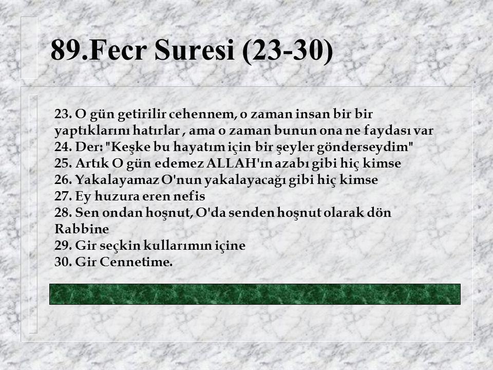89.Fecr Suresi (23-30) 23.