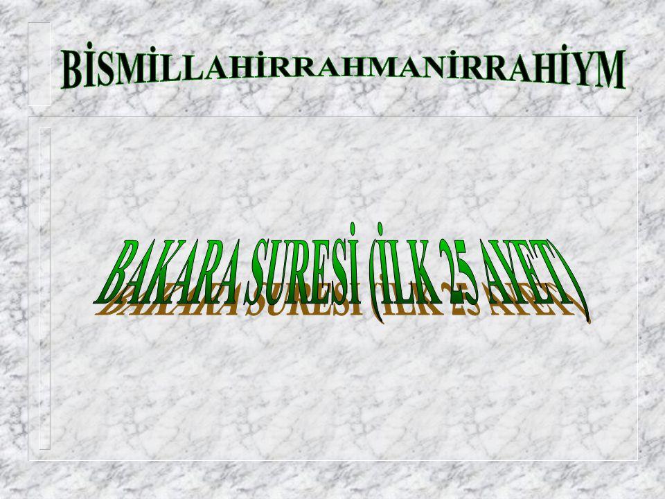 106.Kureyş Şuresi Başlıyor Rahman ve Rahim olan ALLAH ın adıyla, 1.
