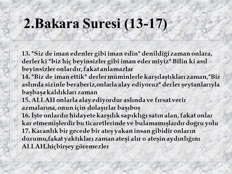 95.Tin (İncir) Suresi Başlıyor Rahman ve Rahim olan ALLAH ın adıyla, 1.