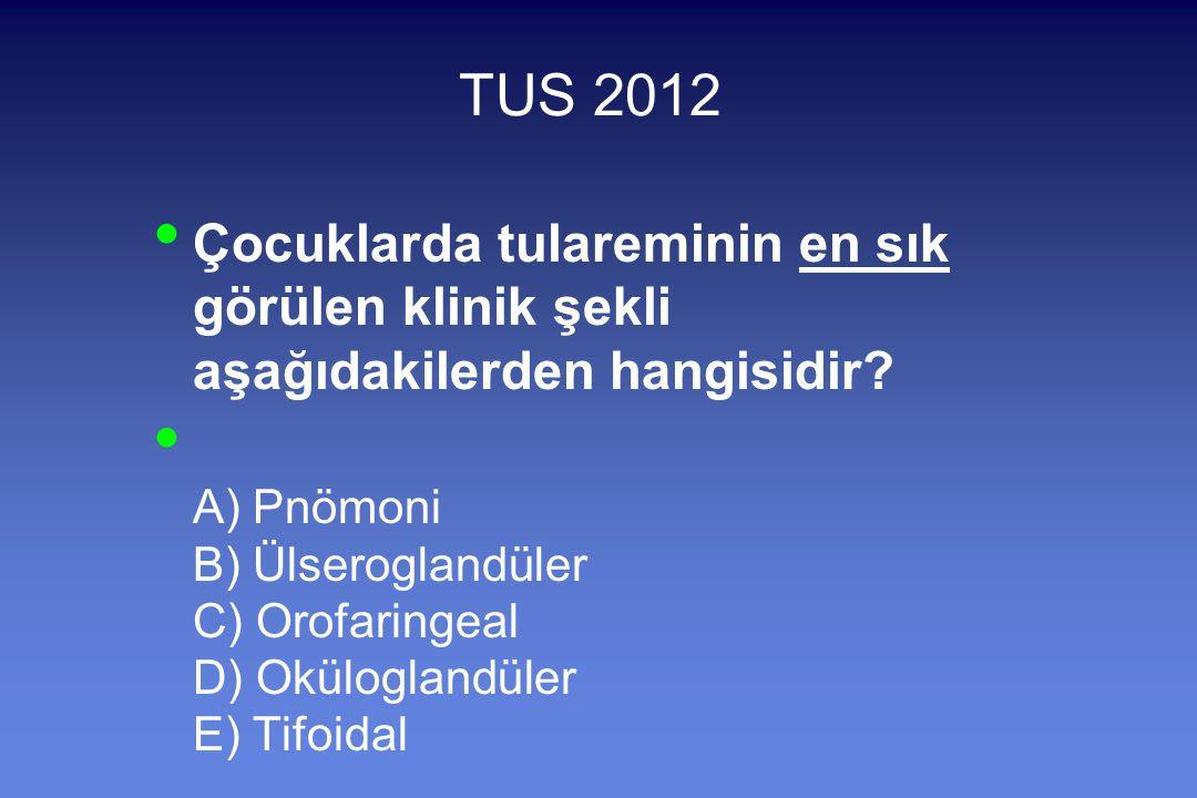 TUS 2012 Çocuklarda tulareminin en sık görülen klinik şekli aşağıdakilerden hangisidir.