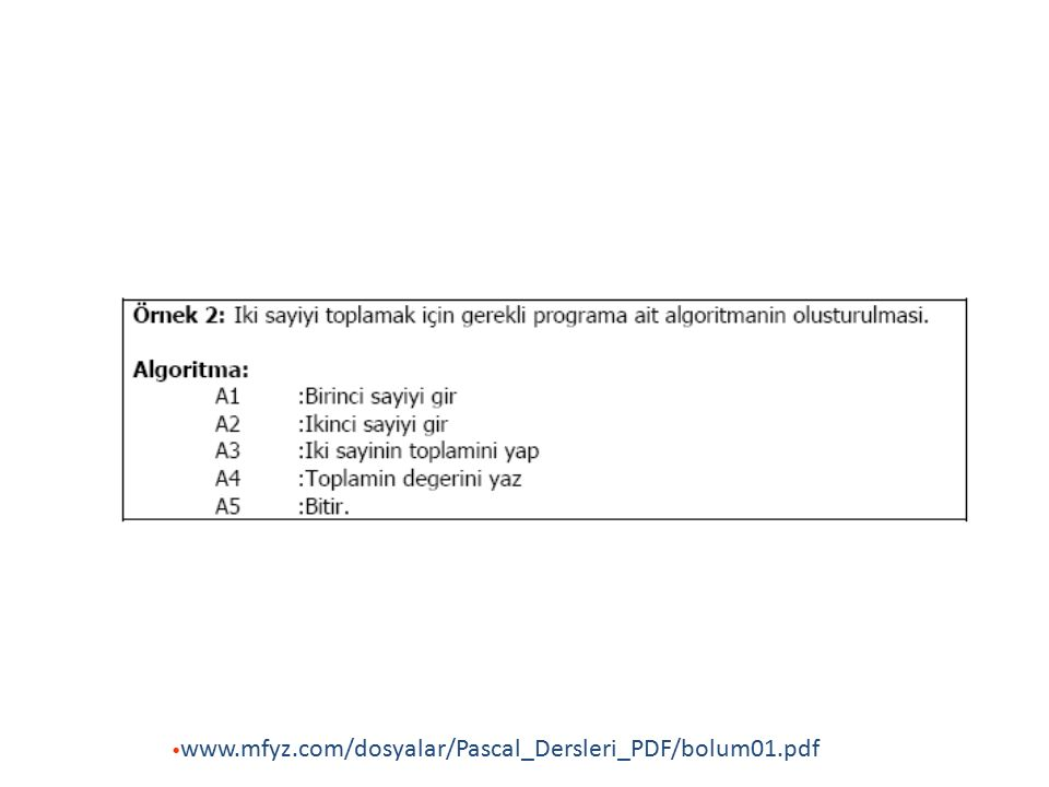 3.Uygulama 3.Uygulama 1 den 100 e kadar sayıların karelerini, kareköklerini, küplerini, küpköklerini toplamlarını ve ortalamalarını veren programın akış diyagramı karar mantığı yapısı ile www.mfyz.com/dosyalar/Pascal_Dersleri_PDF/bolum01.pdf