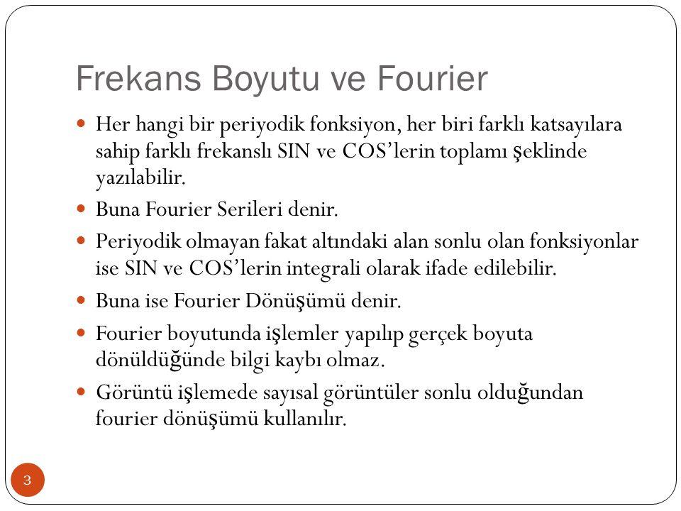 1-Boyutlu Sürekli Zamanlı Fourier Dönüşümü ve Tersi 4 A ş a ğ ıda görülen iki denkleme fourier çifti denir.