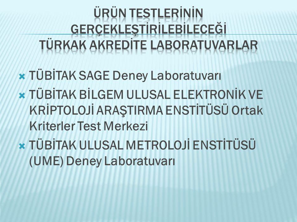 Türk Standartları Enstitüsü _TSE  Savunma Sanayi Müsteşarlığı_SSM  Türkiye Bilimsel ve Teknolojik Araştırma Kurumu_TÜBİTAK