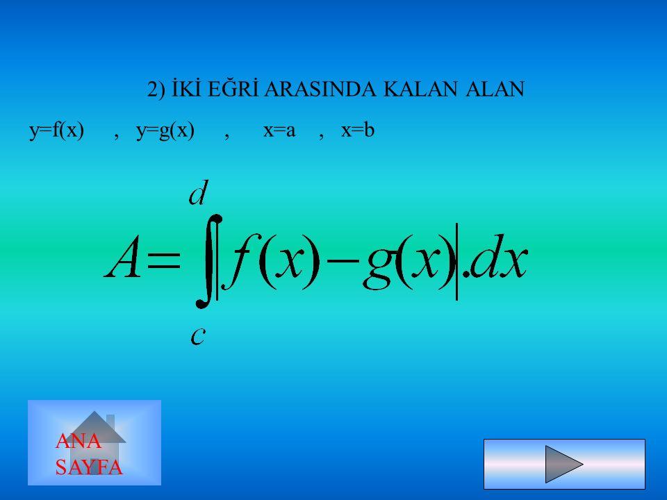 B ) x=g(y), y=c, y=d ve y ekseni ANA SAYFA