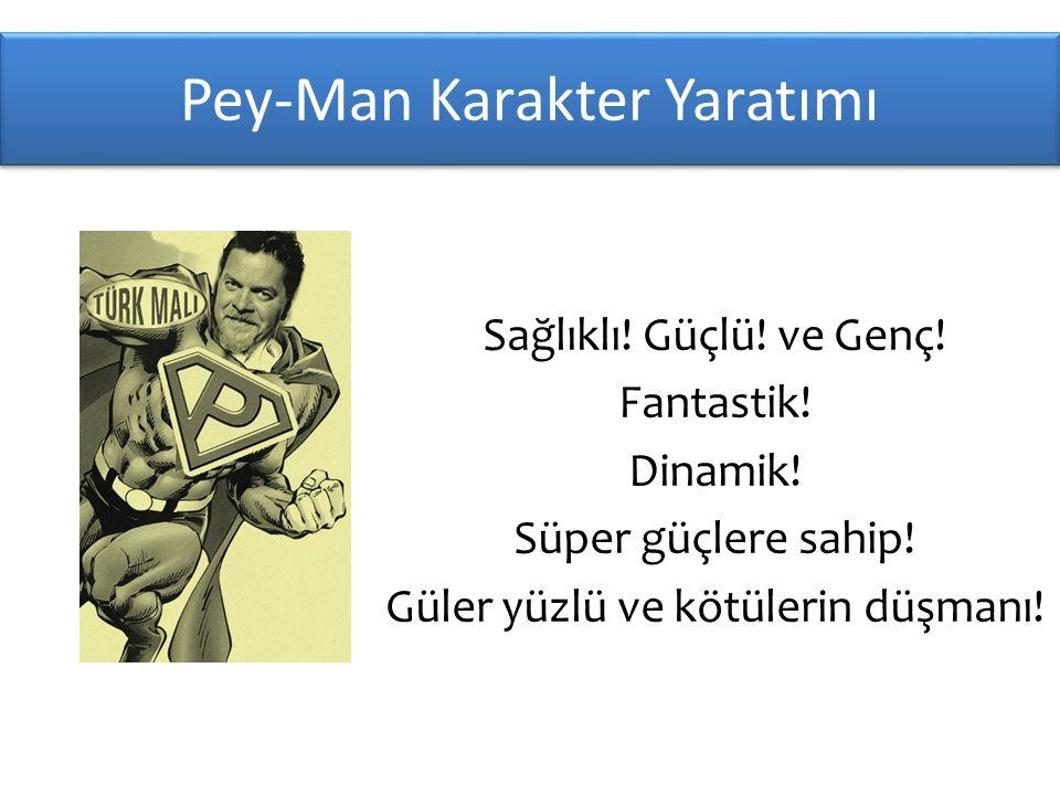 Pey-Man Karakter Yaratımı Sağlıklı.Güçlü. ve Genç.