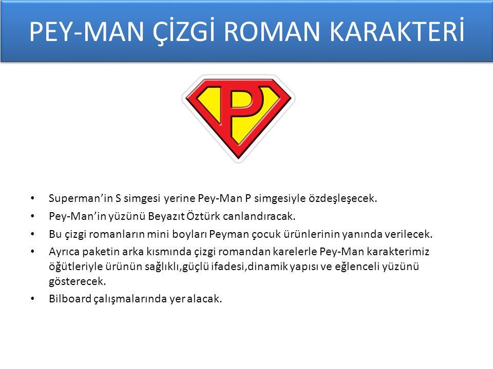 Superman'in S simgesi yerine Pey-Man P simgesiyle özdeşleşecek.