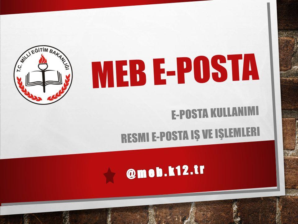 2 İ çerik………………………………….:  @meb.k12.tr E-Postaların Özellikleri  E-Postalara Ulaşma Yöntemleri  Web Tabanlı E-Posta Yönetimi  Microsoft Outlook ile E-Posta Yönetimi  Yeni E-Posta Gönderme  E-Postaya Dosya/Belge Ekleme  Gelen E-Postaları Yanıtlama ve Silme