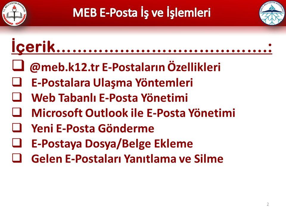 13 Web Tabanlı E-Posta (posta.meb.k12.tr)