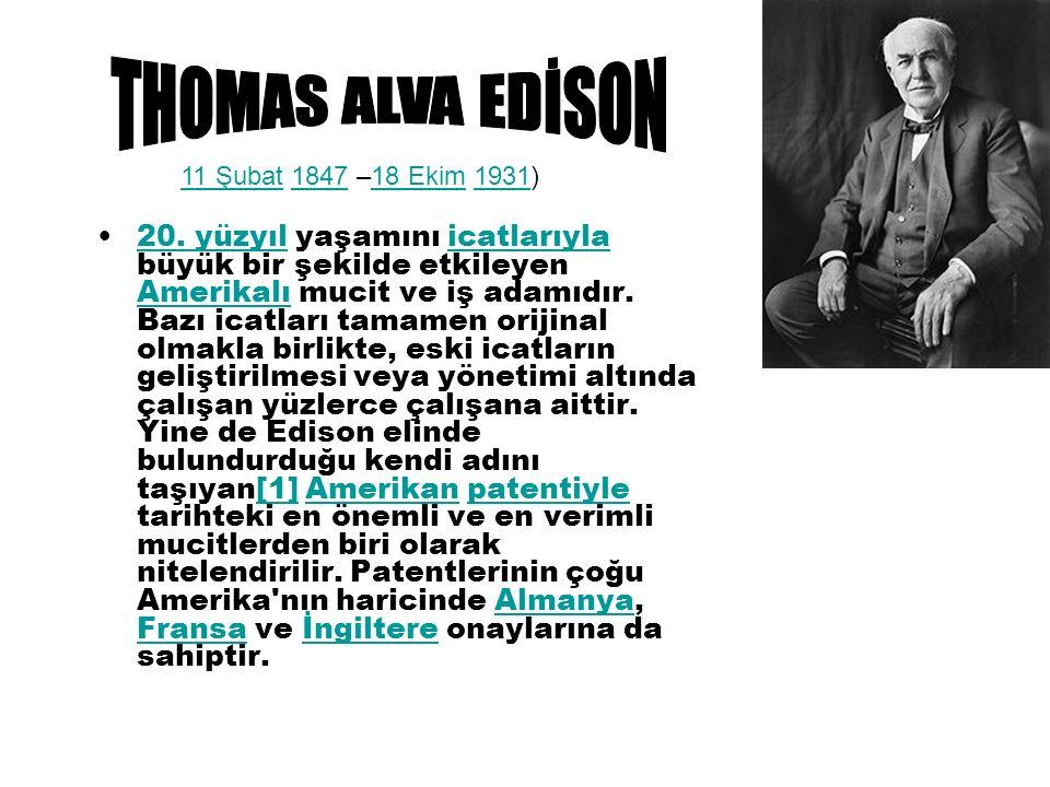Buluşları 1879 da Edison bir elektrik ampulü icat etti.Kömürleştirilmiş iplikten Flamanlarla deneyler yaptıktan sonra karbonlaştırılmış kâğıt flamanda karar kıldı.1880'de evde güvenle kullanılabilecek ampuller üreterek tanesini 2,5 dolara satmaya başladı.